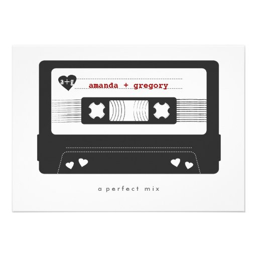 Perfect Mix - Mix Tape Save the Date Card