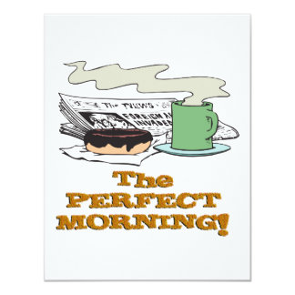 perfect morning coffee donut and paper card