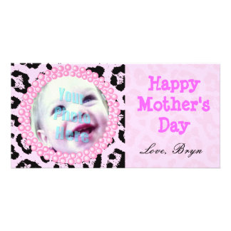 Perfect Mother's Day Gift Pink Cheetah Frame - Card