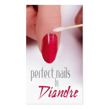 Perfect Nails Manicure Business Card profilecard