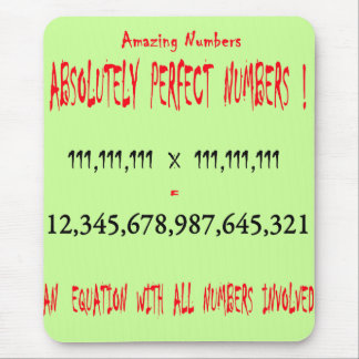 Perfect Numbers Mouse Pad