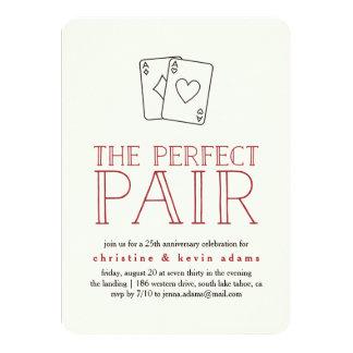 Perfect Pair Casino Anniversary Party Invitation