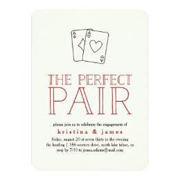 Perfect Pair Casino Engagement Party Invitation