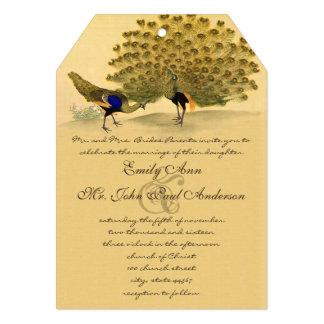 Perfect Pair Peacock Metallic Elegance Card