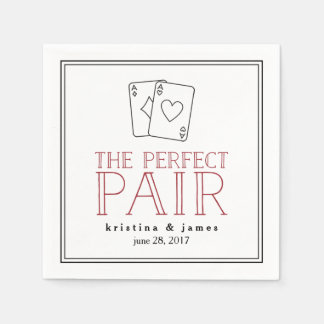 Perfect Pair | Playing Cards Paper Napkin