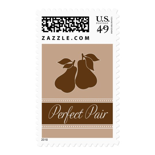 Perfect Pair Postage in Champagne and Brown