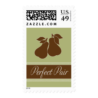 Perfect Pair Postage in Green and Brown