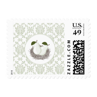 Perfect Pair Twin Baby Shower Postage Stamp