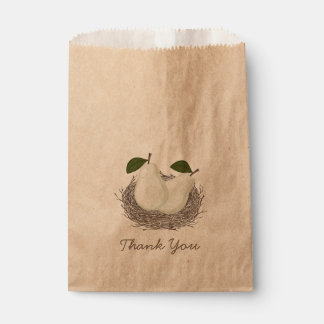 Perfect Pair Twin Party Favor paper bag