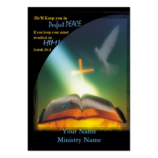 Perfect peace business ministry card large business for Ministry business cards