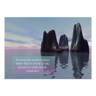 """""""Perfect Peace"""" Inspirational Poster"""