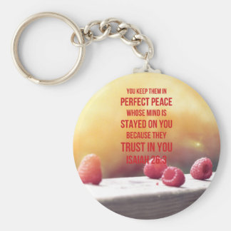 Perfect Peace Isaiah 26:3 Basic Round Button Keychain
