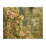 "Perfect Peace Wood Print 10x8"""