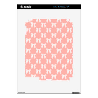 Perfect Peach Pastel With White Bows iPad 2 Skin