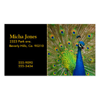 Perfect Peacock Plumage Business Cards