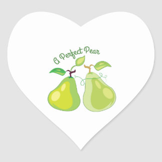 Perfect Pear Heart Sticker