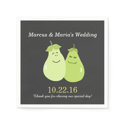 Perfect Pear Pair Bride/Groom Wedding Napkins