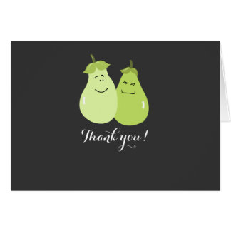 Perfect Pear Wedding Couple Thank you Note Card