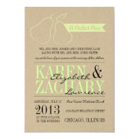Perfect Pear Wedding Invitation