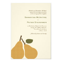 Perfect Pear Whimsical Wedding Invitation Card