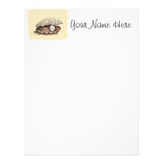 Perfect Pearl Seashell Letterhead Template