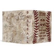 Perfect Personalized Baseball Senior Night Gifts 3 Ring Binder