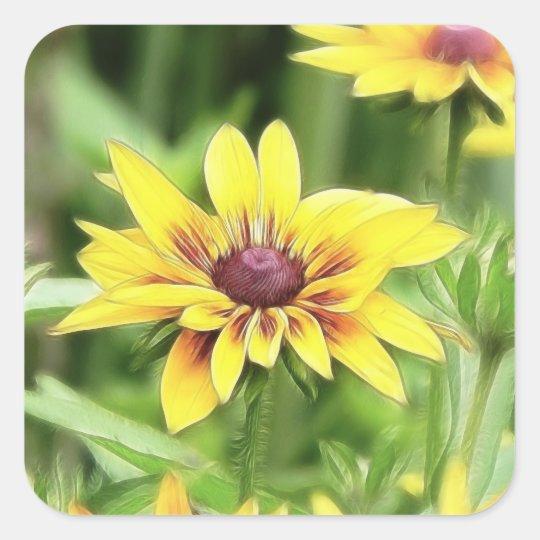 Perfect Petals - Rudbeckia Square Sticker