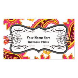 Perfect Pickles Paisley Business Card Template