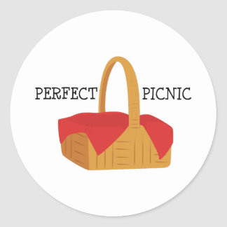 Perfect Picnic Round Stickers