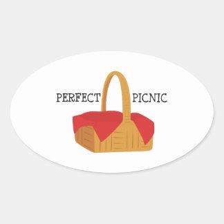 Perfect Picnic Oval Sticker