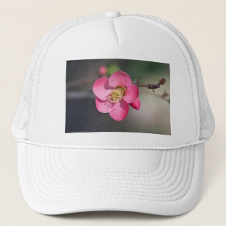 Perfect Pink Flowering Quince Trucker Hat
