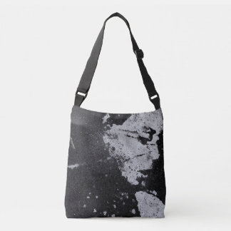 PERFECT PITCH BLACK graffiti female portrait Crossbody Bag