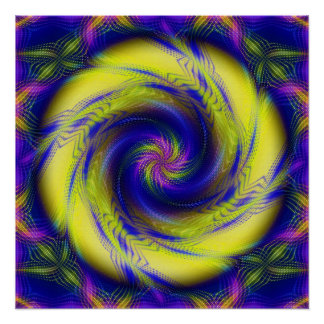 Perfect Poster Fractal Spiral Vortex