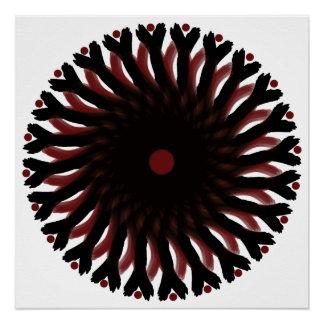 Perfect Poster (Glossy Finish) RED/BLACK CIRCLE SU