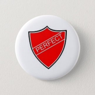 Perfect Prefect Badge Red Button