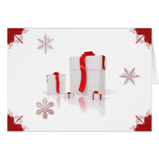 Perfect Presents on White Background Card