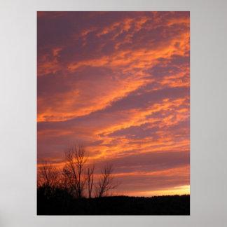 Perfect purple sunset print