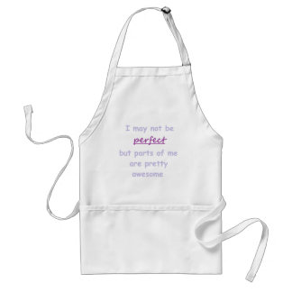 Perfect quote adult apron