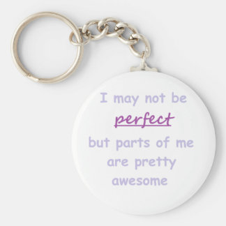 Perfect quote basic round button keychain
