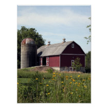 Perfect Red Barn Poster