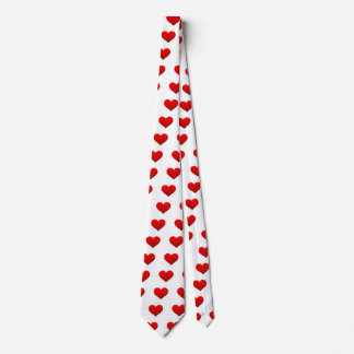 Perfect Red Valentine Heart Neck Tie