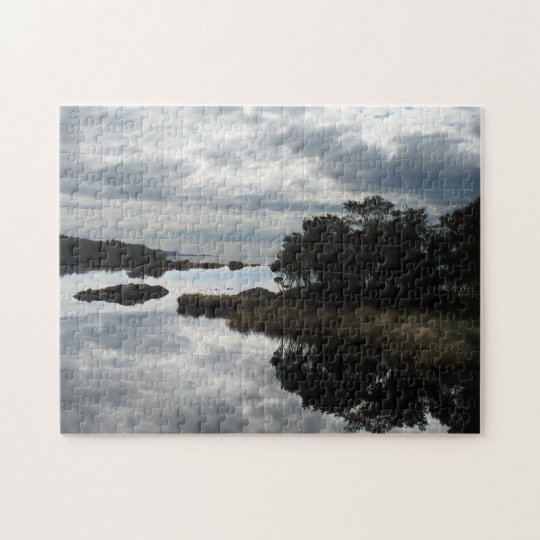 Perfect reflections - sky and sea jigsaw puzzle