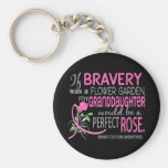 Perfect Rose 2 Granddaughter Breast Cancer Basic Round Button Keychain