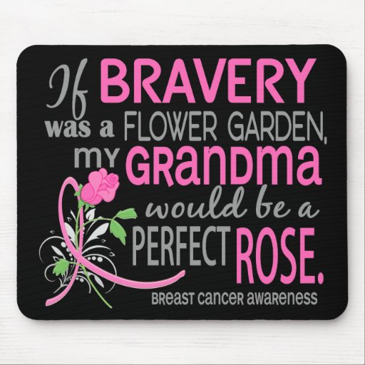 Perfect Rose 2 Grandma Breast Cancer Mouse Pad