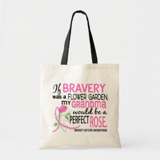 Perfect Rose 2 Grandma Breast Cancer Tote Bag
