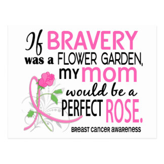 Perfect Rose 2 Mom Breast Cancer Postcard