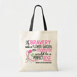Perfect Rose 2 Mommy Breast Cancer Tote Bag