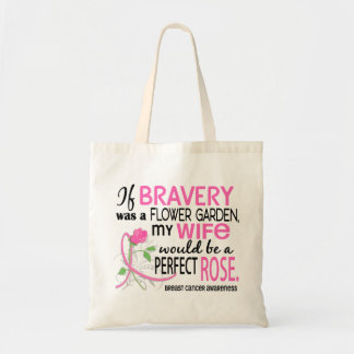 Perfect Rose 2 Wife Breast Cancer Canvas Bag