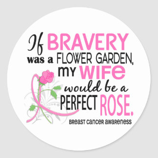 Perfect Rose 2 Wife Breast Cancer Sticker