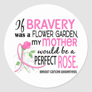 Perfect Rose Mother Breast Cancer Stickers